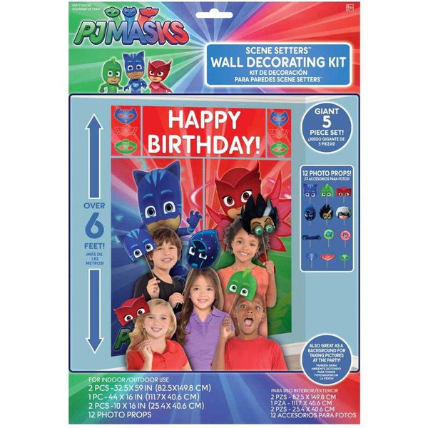 Amscan | PJ Masks Scene Setter & Photo Props | PJ Masks Party Theme & Supplies