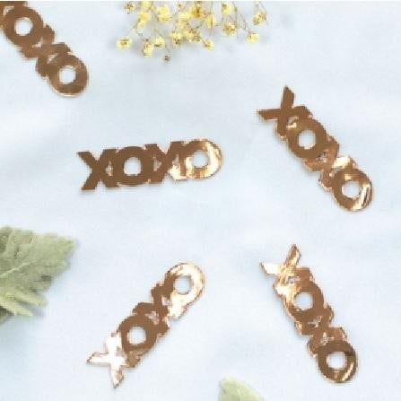 Five Star | Rose Gold Jumbo Confetti - XOXO | Valentines Day Party Theme & Supplies