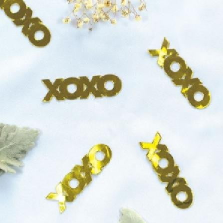Five Star | Black Jumbo Confetti - XOXO | Valentines Day Party Theme & Supplies