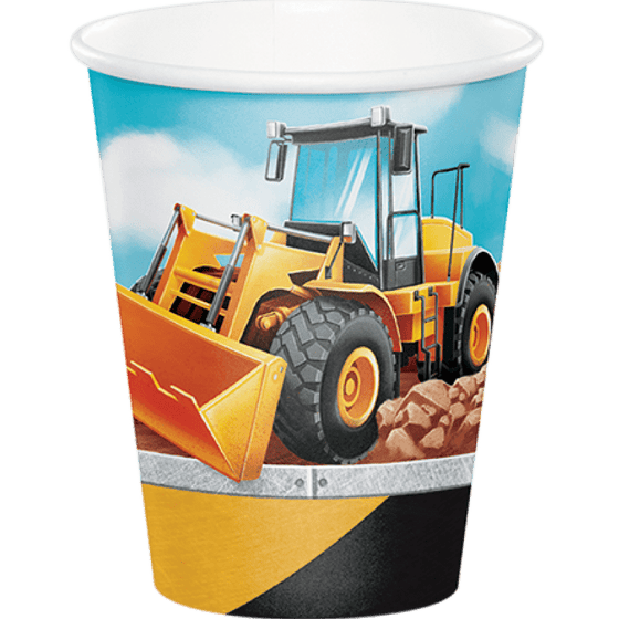Amscan | Big Dig Construction Cups | Construction Party Them & Supplies |