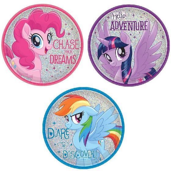 Amscan | My Little Pony Friendship Adventure Plates - Lunch | My Little Pony Party Theme & Supplies |