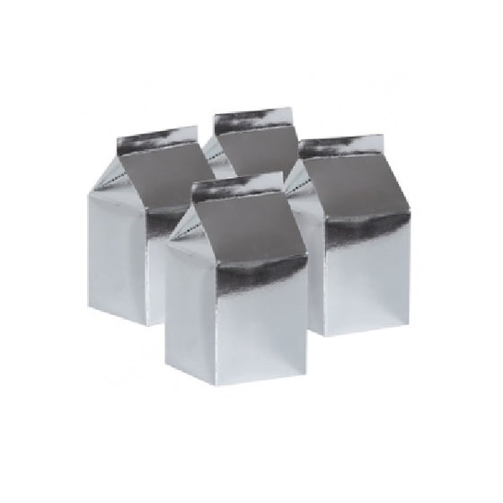 Five Star | Five Star Metallic Silver Milk Cartons |
