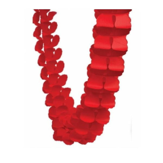 Five Star Honeycomb Garland - Apple Red