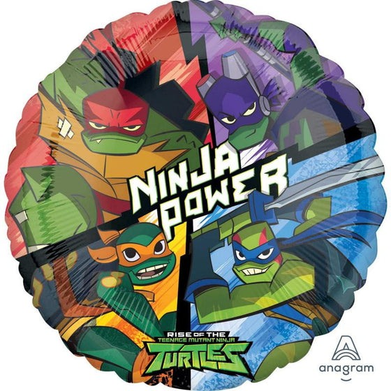 Anagram | Rise of the Teenage Mutant Ninja Turtles Foil Balloon | TMNT Party Theme & Supplies |