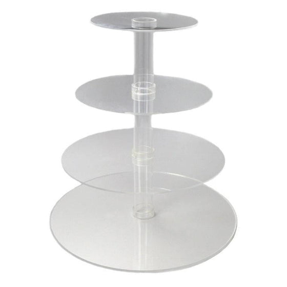 Clear Acrylic 4 Tier Cupcake Stand Hire