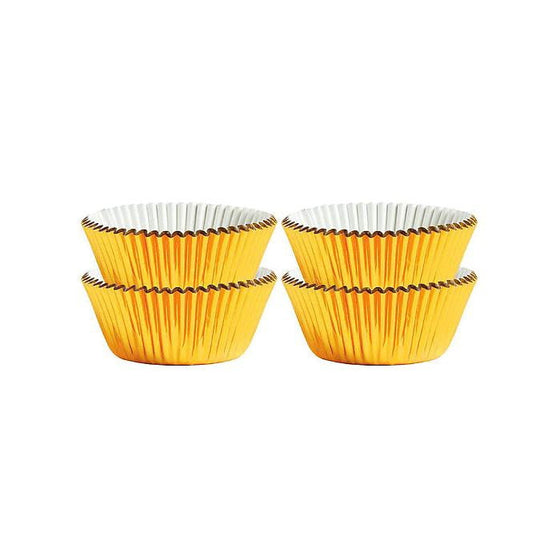 Gold Foil Mini Cupcake Papers | Gold Cake Decorations