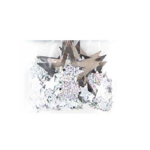 Alpen | Holographic Star Confetti - Silver Assorted | Galaxy Party Theme & Supplies