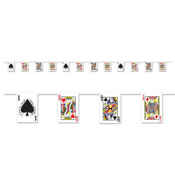 Casino Playing Card Banner | Casino Theme & Supplies