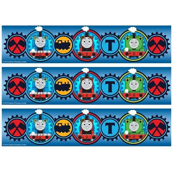Thomas the Tank Engine Cake Strip Edible Images