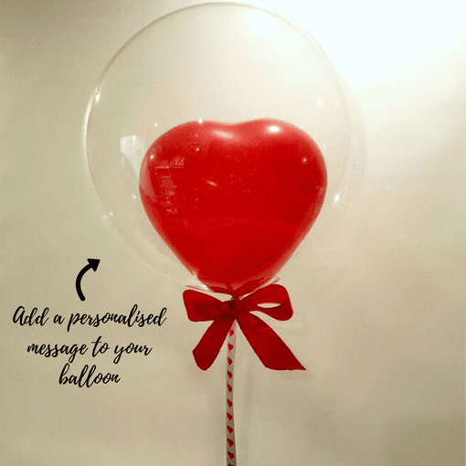Personalised Heart Balloon | Valentines Balloon