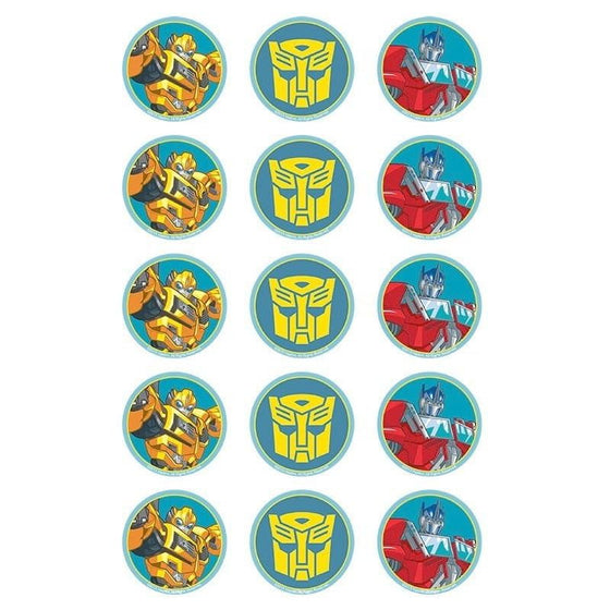Transformers Edible Cupcake Images | Transformers Party Theme & Supplies