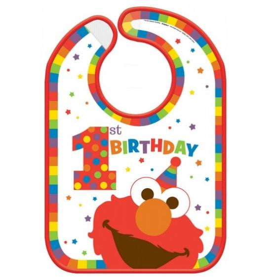 Amscan | Elmo Turns One Bib | Sesame Street Party Theme & Supplies