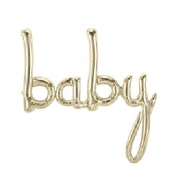 Gold Baby Banner | Baby Shower Supplies | Gender Reveal Party