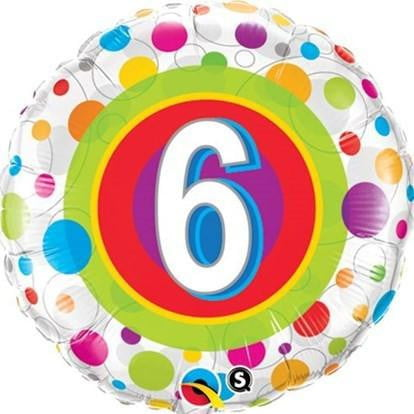 Number 6 Foil Balloon | 6th Birthday Party Supplies