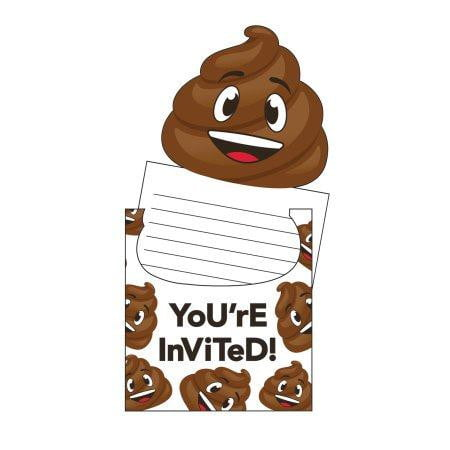 Emoji Poop Invitations | Emoji Party Supplies