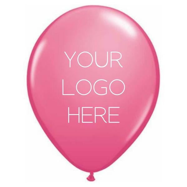 "Custom Printed 11"" Latex Balloons - Two Sides - Pack of 100"