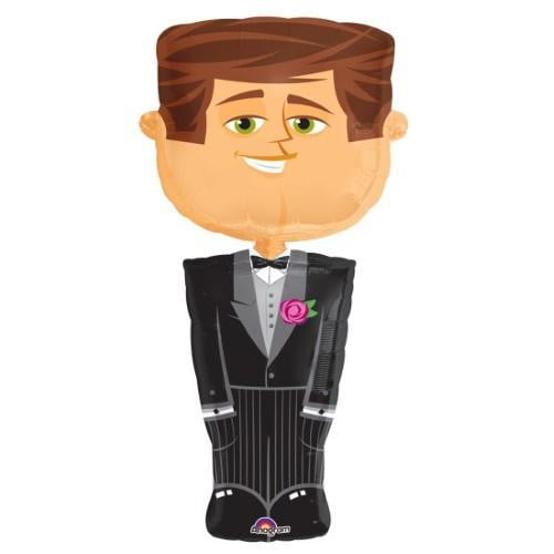 Wedding Groom Airwalker Foil Balloon - 50 Inch