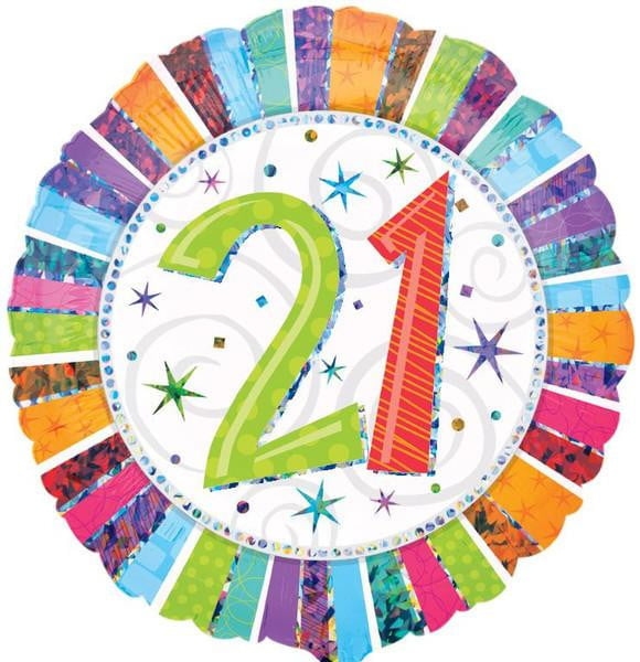 21st Birthday Foil Balloon | 21st Birthday Party Supplies