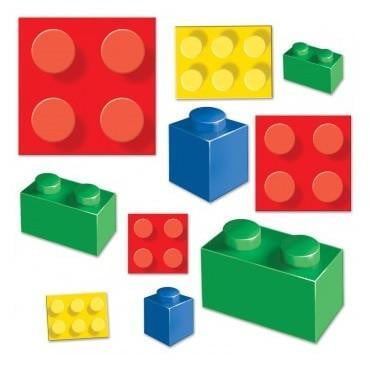 Beistle | Lego Blocks Cutouts | Lego Party Theme & Supplies