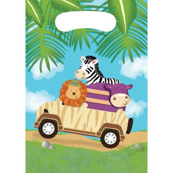 Safari Animal Party Bags | Safari Adventure Party Supplies