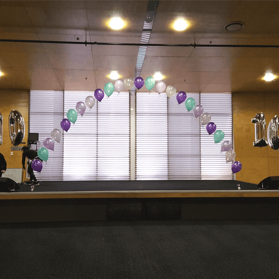 String of Pearl Balloon Arch | Helium Balloons Wellington