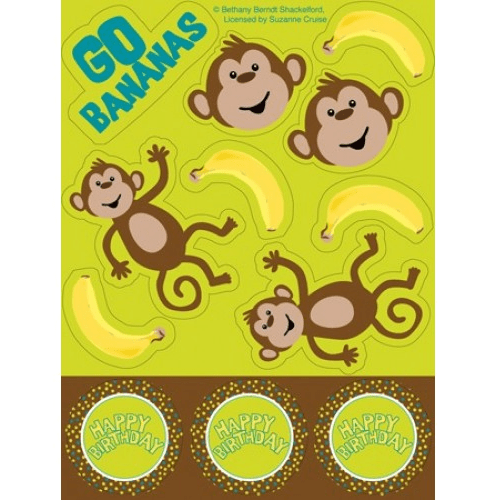 Monkey Stickers | Monkey Party Theme and Supplies