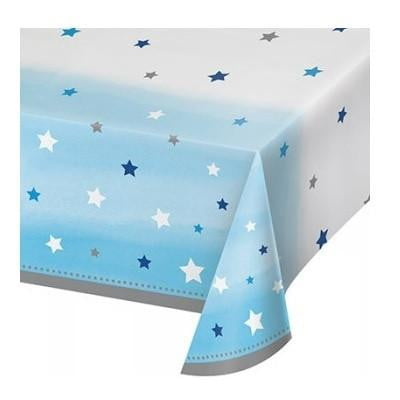 Party Creations | One Little Star Blue Tablecloth