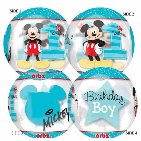 Mickey Mouse 1st Birthday Balloon | Mickey Mouse 1st Birthday Supplies