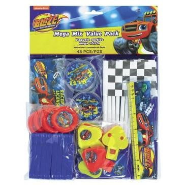 Blaze & the Monster Machines Mega Mix Favour Pack - 48 Pieces | Blaze Party Theme & Supplies