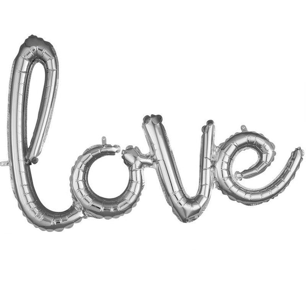 Silver Love Balloon Banner | Wedding Decorations