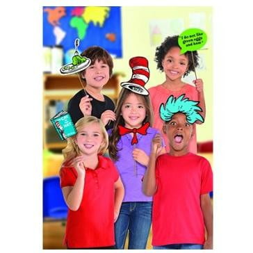 Amscan | Dr Seuss Photo Prop Kit | Dr Seuss Party Theme & Supplies