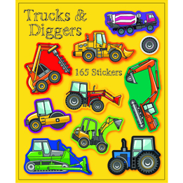 Trucks & Diggers Sticker Book | Trucks & Diggers Party Theme & Supplies