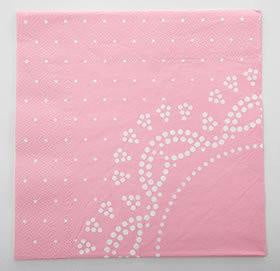 Pink Doily Lace Napkins | Girls Birthday Party Supplies
