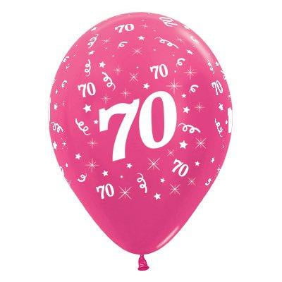 Sempertex | 6 Pack Age 70 Balloons - Metallic Fuchsia