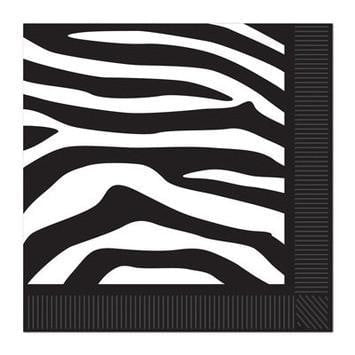 Zebra Print Napkins | Zebra Party | Safari Animal Party
