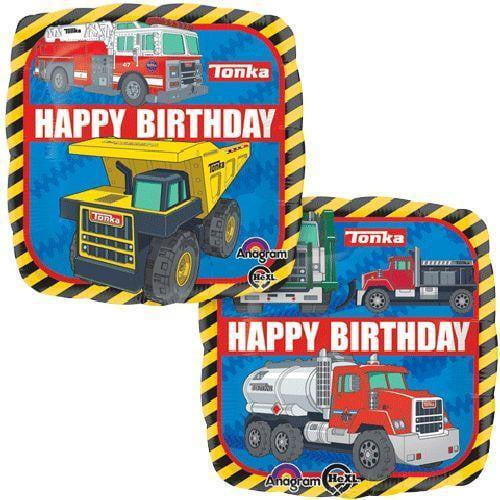 Tonka Trucks Happy Birthday Square Foil Balloon