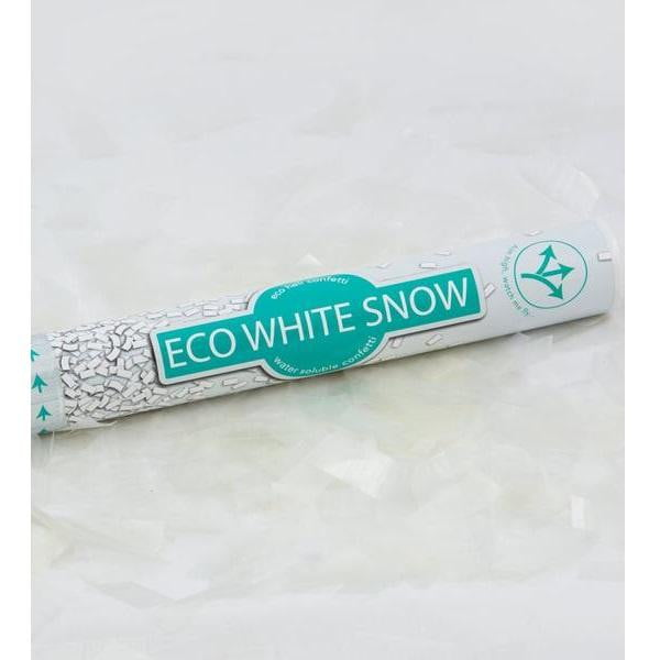 Confetti Cannon - Eco White Snow 40cm | Frozen Party Theme & Supplies