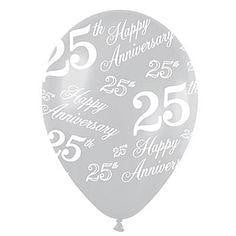 25th Anniversary Balloon | 25th Anniversary Decorations