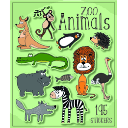 Zoo Animals Sticker Book | Animal Party Theme & Supplies