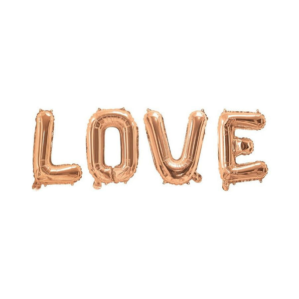 Rose Gold Love Balloon Banner | Wedding Decorations