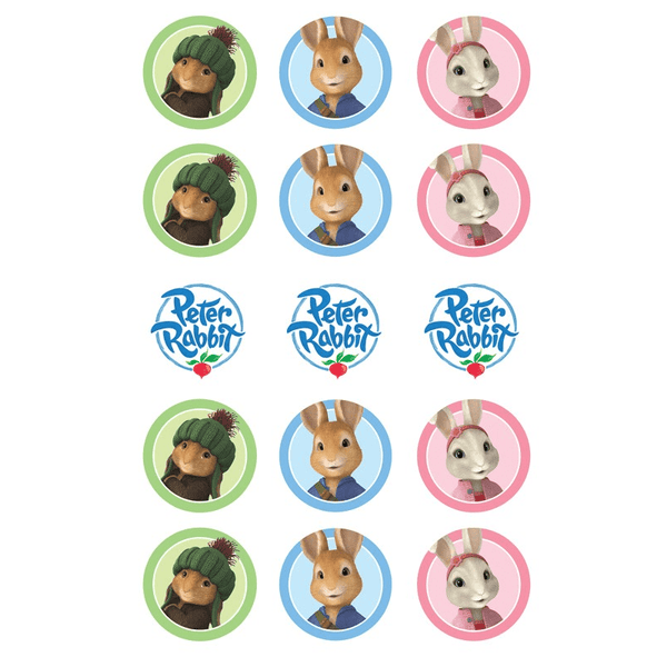 Peter Rabbit Edible Cupcake Toppers | Peter Rabbit Party