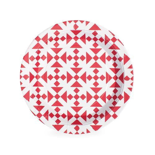 Paper Eskimo Aztec Red Plates - Lunch