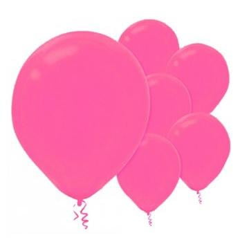 Amscan | Value Balloons Pack of 15 - Bright Pink