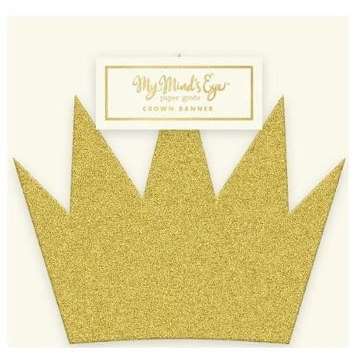 My Minds Eye | Mini Gold Crown Banner | Princess Party Theme & Supplies