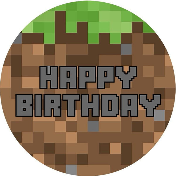 Minecraft Edible Cake Image | Minecraft Party Supplies