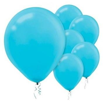 Amscan | Value Balloons Pack of 15 - Caribbean Blue