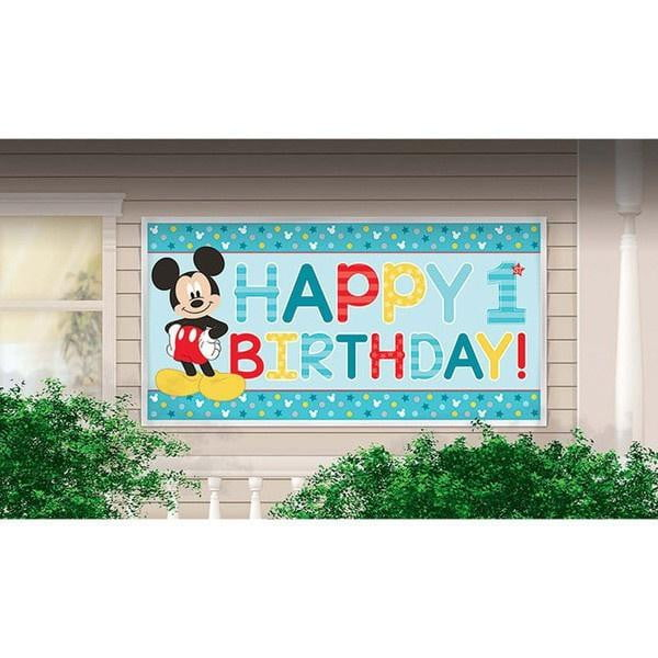 Mickey Mouse 1st Birthday Banner | Mickey Mouse 1st Birthday Supplies