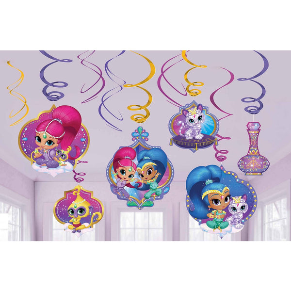 Shimmer and Shine Hanging Swirl Decorations | Shimmer and Shine Party