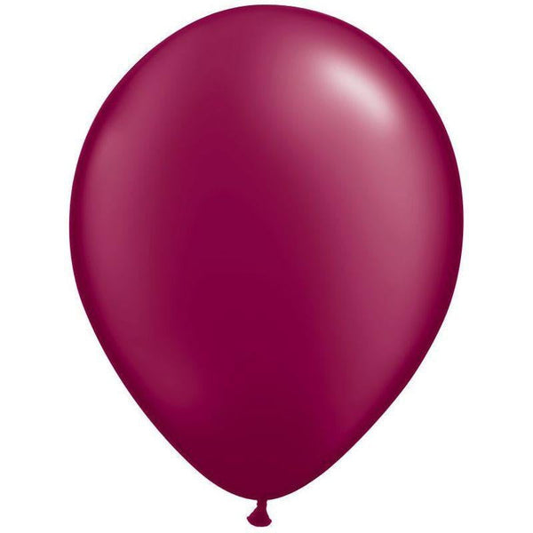 Qualatex | Radiant Pearl Burgundy Balloon | Burgundy Party Supplies