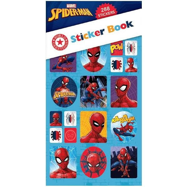 World Greetings | Spiderman Sticker Book WEB5834 | Spiderman Party Theme & Supplies